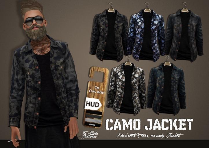 advertisement for camo jacket